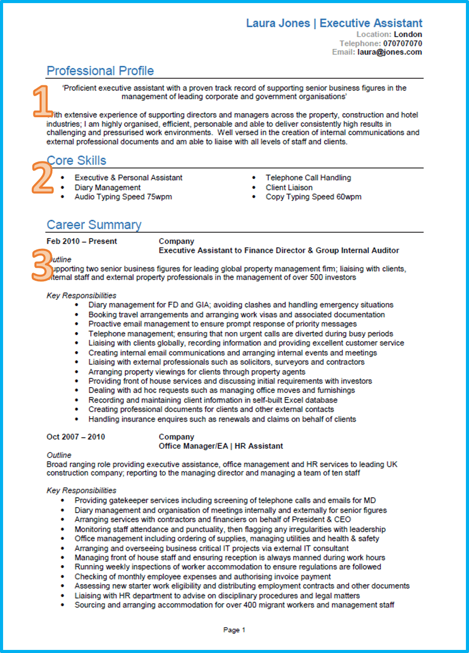 how to properly write a curriculum vitae  cv