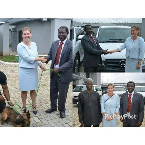 Germany Donates Six Sniffer Dogs, Bus To NDLEA