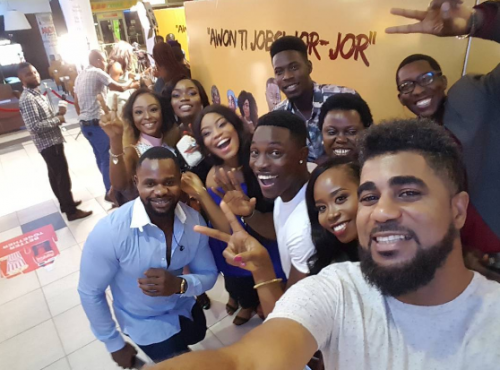 PHOTOS: Big Brother Naija 2017 Ex- Housemates Reunite For Movie Premiere Featuring Bisola