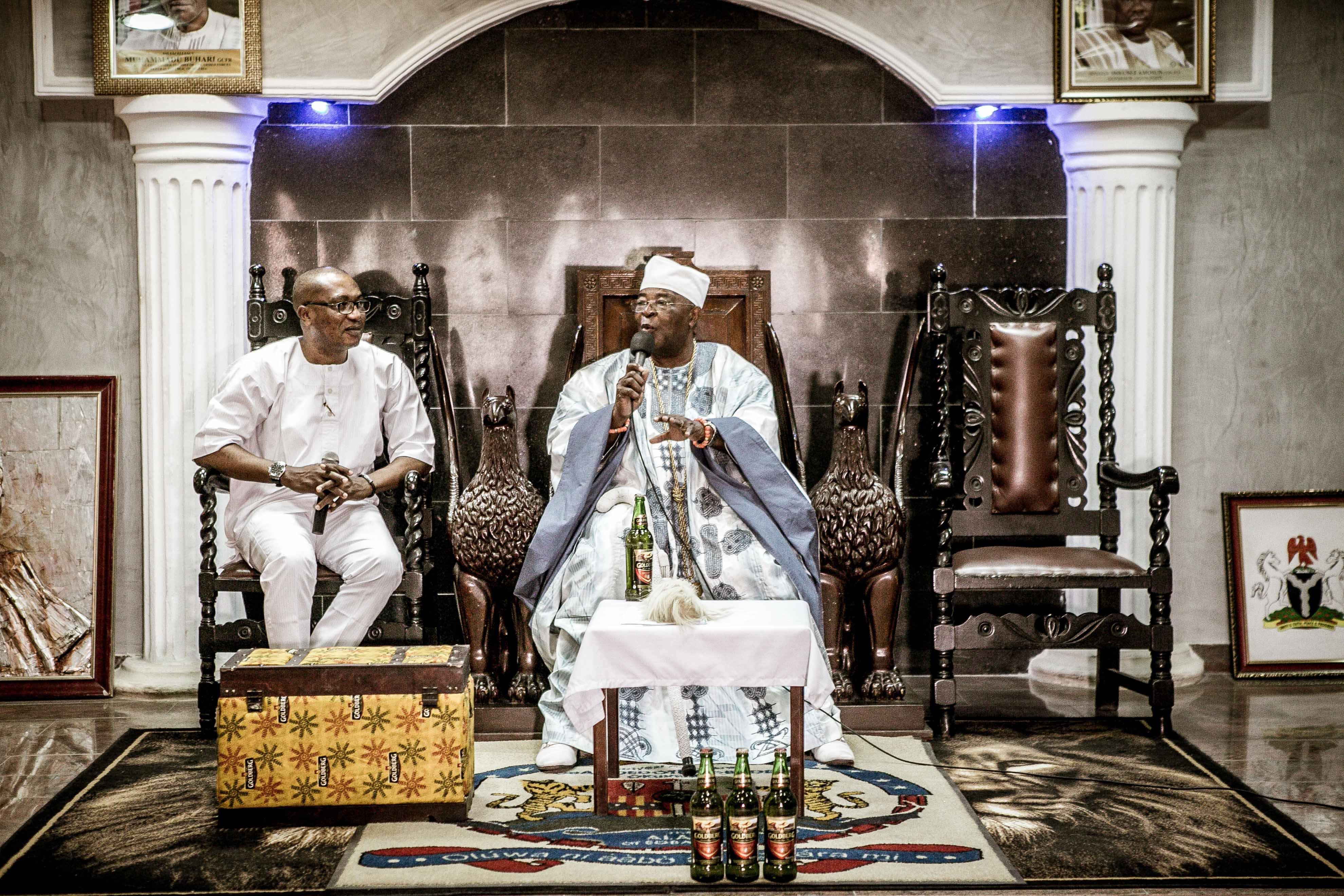 Egba Monarch Cheers Artistes, Declares Goldberg Best Brand In Abeokuta