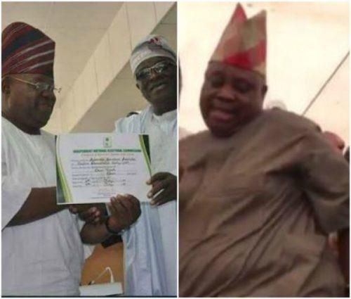 INEC Issues Certificate Of Return To Davido's Uncle 'Senator' Ademola Adeleke (Photos)
