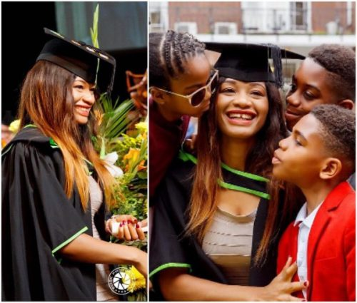 Kanu Nwankwo's Wife Amara Bags Masters Degree From London University (Photos)