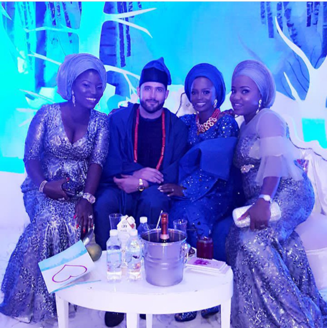 Toke Makinwa Stuns In White For Younger Sister Busayos Wedding