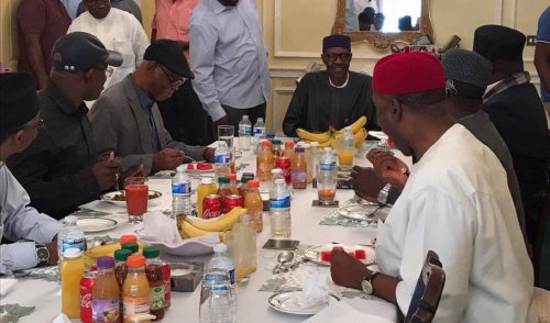Breaking! President Buhari Hosts APC Delegation To Lunch Today( Photo)