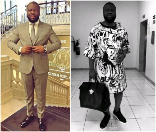 Hushpuppi Steps Out in Midi Dress (Photo)
