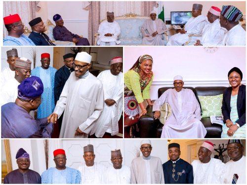 Photo Speak: Nigeria's Governors Forum Visits President Muhammadu Buhari In London Today