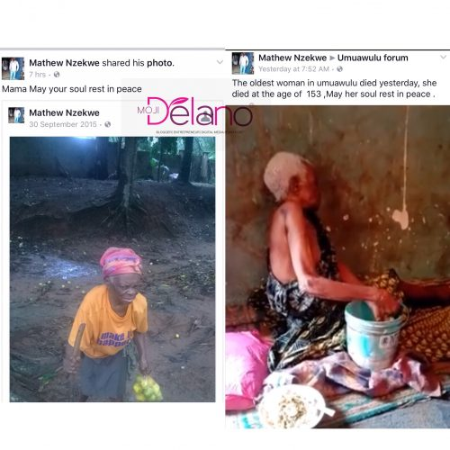 Photos: Oldest Woman In Anambra State Dead At  153