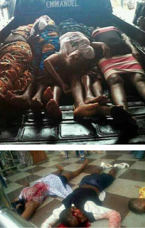 Photos: 11 Dead,  18 Injured In Anambra  Church Shooting(Graphic Images)