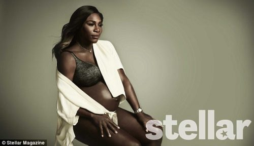 """I'm Proud To Be A Feminist!""-Heavily Pregnant Tennis Super Star Serena Williams Says As She Covers August Edition Of Stellar Magazine"