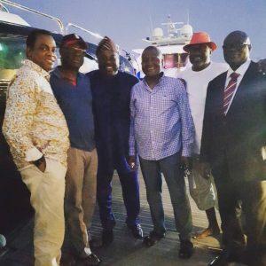 Photos: Aliko Dangote, Femi Otedola, Reuben Abati, Dele Momodu, Niyi Adebayo, Donald Duke Hang Out