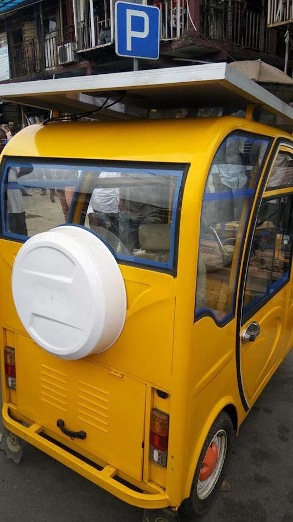 Man builds solar-powered tricycle, drives it to Yaba2