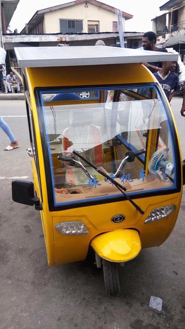 Man builds solar-powered tricycle, drives it to Yaba3