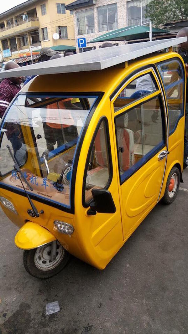 Wow! Nigerian Man Builds Solar-Powered Tricycle, Drives It To Yaba, Lagos