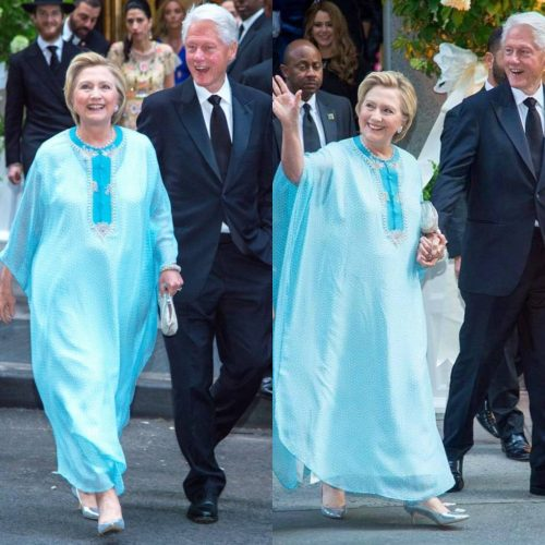 Hillary Clinton Attends Wedding Wearing Agbada (LOOK)
