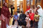 President Buhari Arrives Aso Rock, Pictured With His Children And Grand Children (Photos)