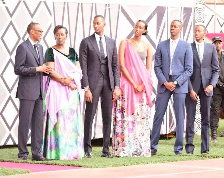 Rwandan President Paul Kagame Has Such A Beautiful Family (Photo)