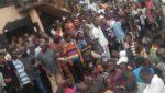 Pandemonium As Suspected Ritualist Is Burnt Alive At Obadeyi Lagos
