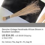 You Won't Believe The Cost Of This 'Vintage' Broom Online (Look)