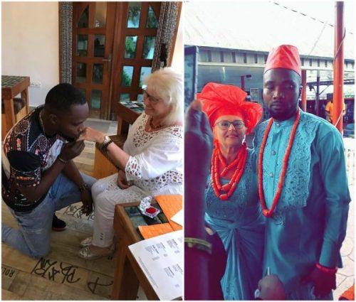 Nigerian Man Marries Older White Girlfriend (Photos)