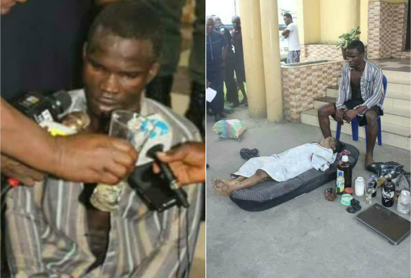 BREAKING: Suspected Ritual Killer Dike, Who Defiled And Removed 8 Year Old Girl's Body Parts Escapes From Police Custody