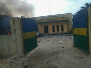 Police Station Burnt By IPOB members In Aba
