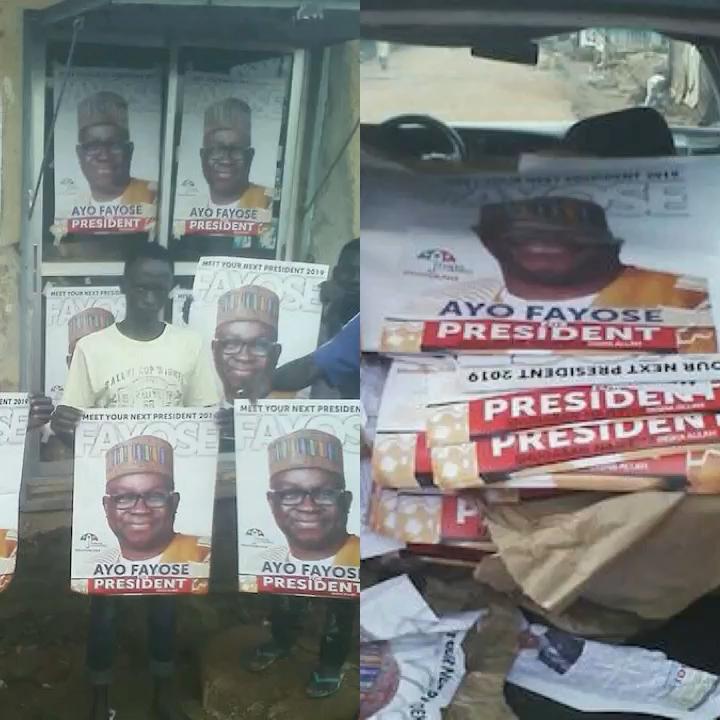 Fayose's poster in Kaduna