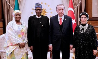 PHOTOS: President Buhari, Wife And Daughter Hanan Meet Turkish President And His Wife