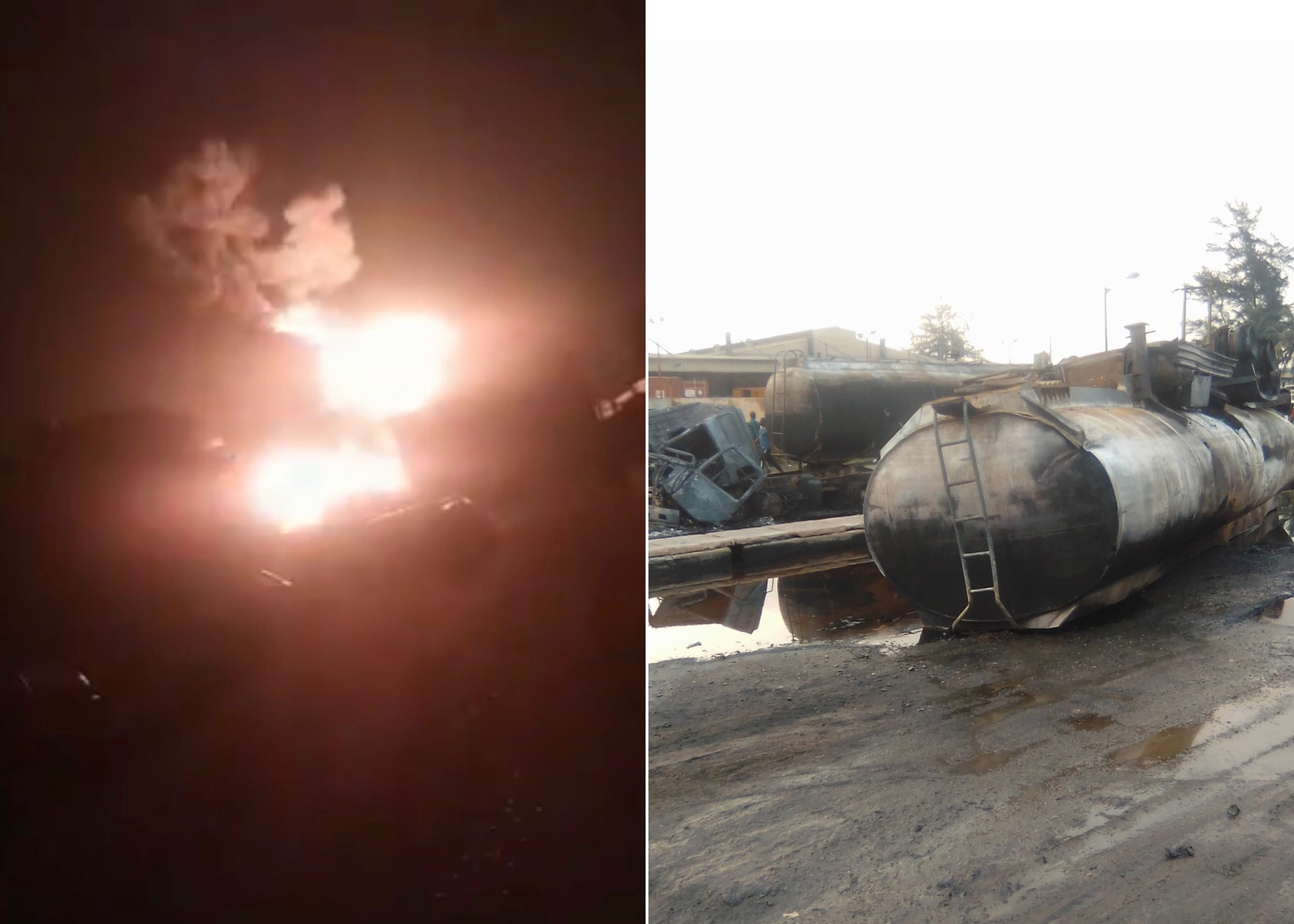 Fire Outbreak At Mile 2 As Tanker Goes Up In Flames (videos) -  MojiDelano.Com