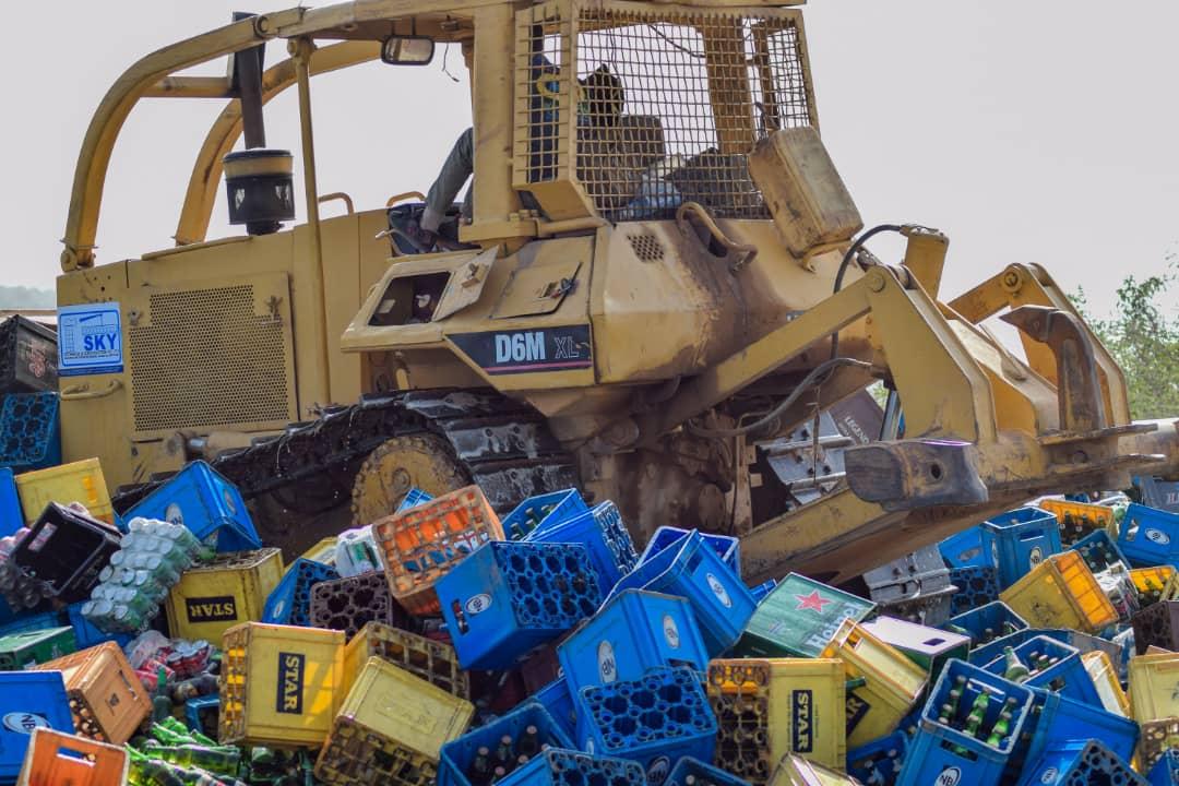 Kano Sharia Police Destroys 1.9 Million Bottles Of Beer Worth Over N200m