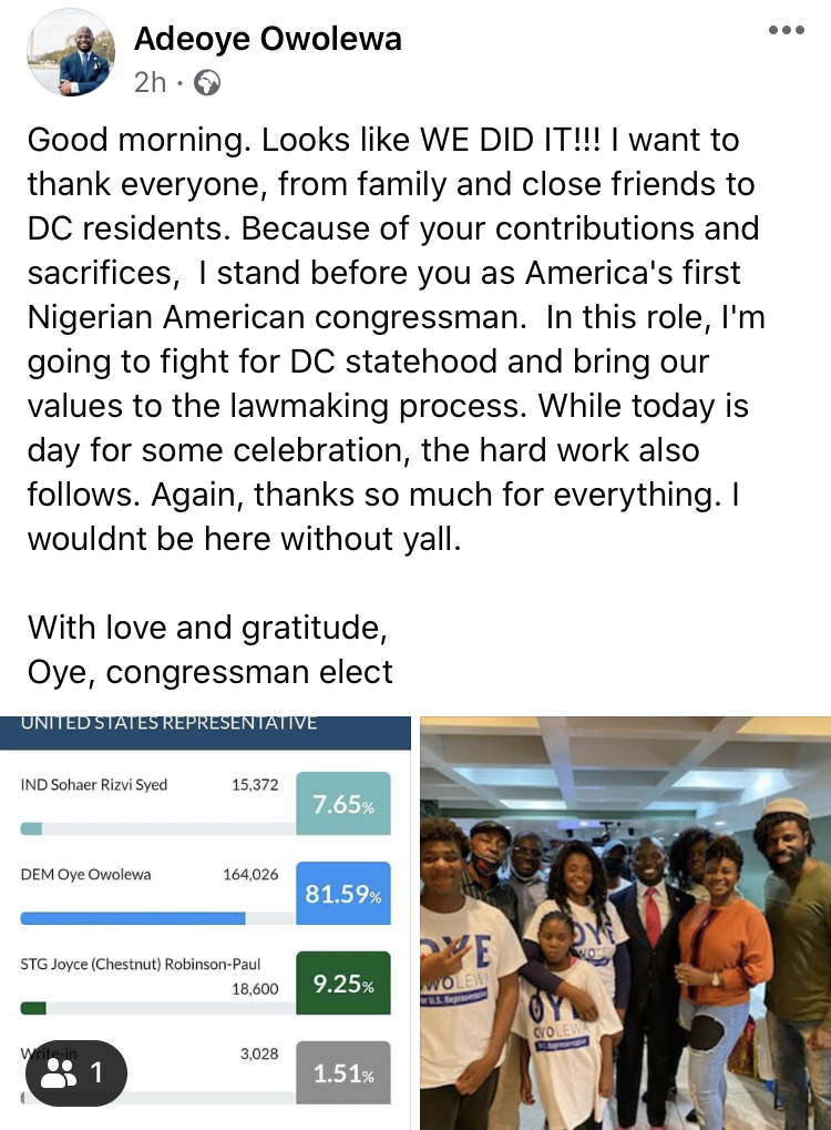 31-Year-Old Man, Adeoye Owolewa Becomes First Nigerian To Be Elected To US Congress