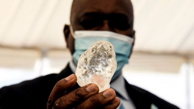President Mokgweetsi Masisi was shown the gem at a ceremony in the capital, Gaborone. Photo: AFP
